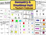 Geometry and Fractions Unit from Teacher's Clubhouse