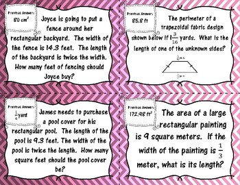 Geometry and Measurement - (6th Grade Math TEKS 6.4H and 6.8A-D)