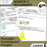 Geometry and Measurement (Grade 6) - Lesson 1 Rectangle,Parallelogram,Triangle