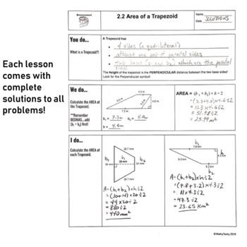 Geometry and Measurement (Grade 7) - Lesson 2 Trapezoids