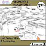 Geometry and Measurement (Grade 7) - Lesson 3 Unit Conversion and Estimation