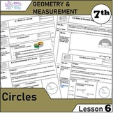 Geometry and Measurement (Grade 7) - Lesson 6 Circles