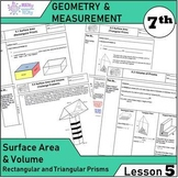 Geometry and Measurement (Grade 7) - Lesson 5 Surface Area and Volume of Prisms