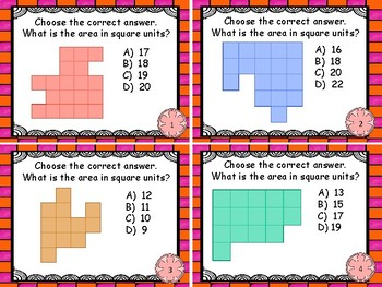 Geometry and Measurement -  Area of Irregular Figures  with Unit Squares