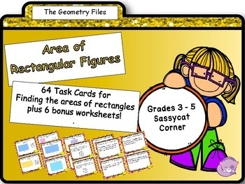 Geometry and Measurement -  Area of Rectangles Task Cards