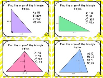 Geometry and Measurement - Area of a Triangle