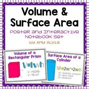 Geometry and Measurement Bundle Posters and Interactive Notebook INB Set