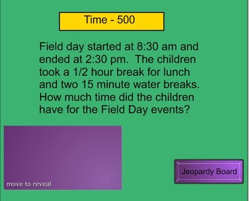Geometry and Measurement Jeopardy 3rd Grade Review