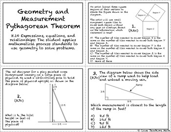 Geometry and Measurement:  Pythagorean Theorem