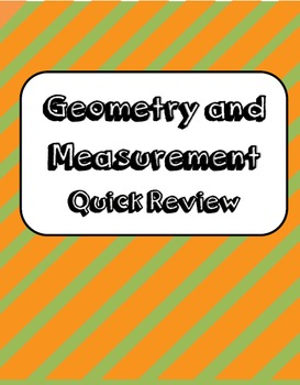Geometry and Measurement Quick Review