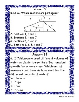 3rd grade Category 3 (Geometry and Measurement) STAAR Review: Scavenger Hunt