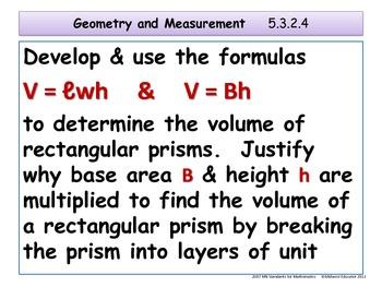 Geometry and Measurement Standards for Minnesota Grade 5