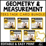 Geometry and Measurement Task Card Bundle | TEKS | Editable