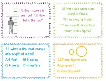 Geometry and Measurement Task Cards
