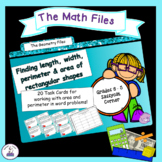 Geometry and Measurement Task Cards - Area and Perimeter word problems