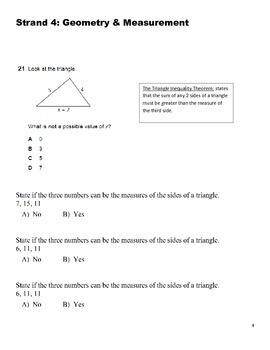 Geometry and Measurement Test Prep
