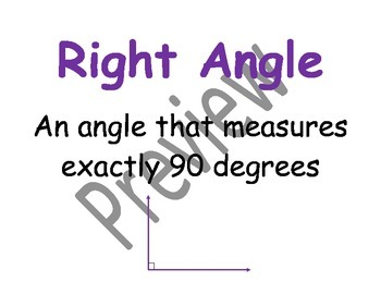 Geometry and Measurement Vocabulary