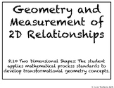 Geometry and Measurement of 2D Relationships Task Cards