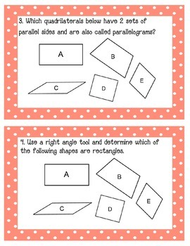 Geometry and MeasurementTask Cards Grade 3 NYS Module 7 Part 1