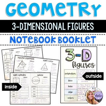 Geometry and Middle School Math - 3-Dimensional 3-D Figures Foldable Booklet