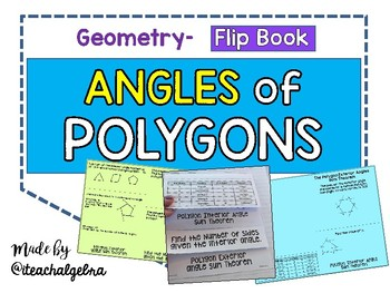Geometry - Angles of Polygons (Interior and Exterior) - Flip Book Foldable