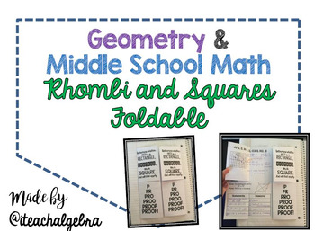 Geometry and Middle School Math - QUADRILATERALS BUNDLE! 6 Foldables!