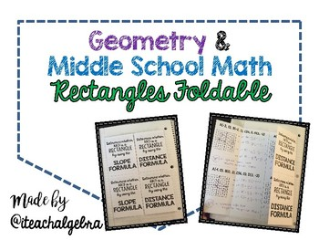 Geometry and Middle School Math - Rectangles Foldable