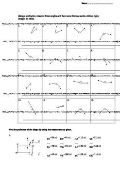 Geometry and Perimeter Worksheet