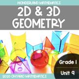 Grade 1, Unit 9: 2D and 3D Geometry (Wonderland Mathematics)