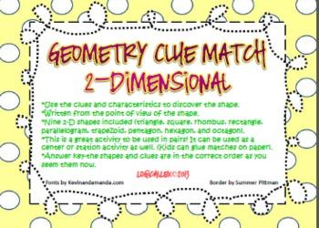 Geometry clue match up!