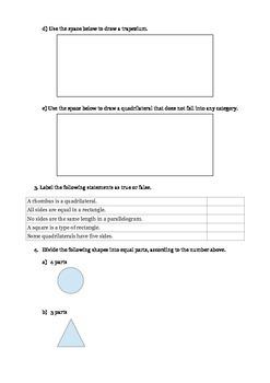 Geometry for 3rd Grade