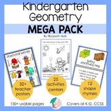 Kindergarten Geometry Mega Pack: all about 2D & 3D shapes