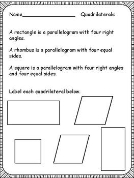 Geometry for Third Grade
