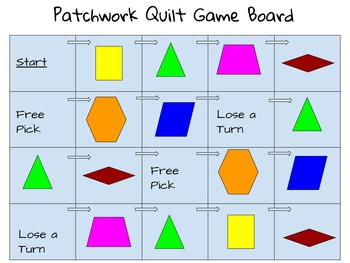 Geometry game using pattern blocks - Great for math centers!