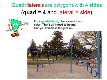 Geometry of a Playground Smart Bd, PPT, PDF (grades 3-5) shapes, angles, lines.