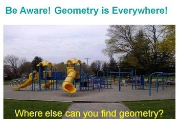 Geometry of a Playground Smart Bd, PPT, PDF (grades 3-5) s