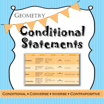 Geometry Conditional Statements with practice charts