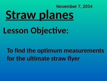 Geometry project - making straw planes