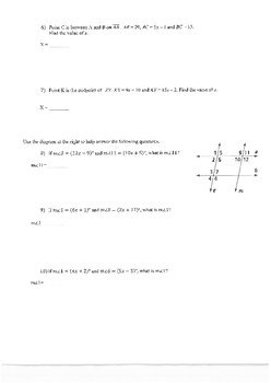 Geometry spiral review on solving equations