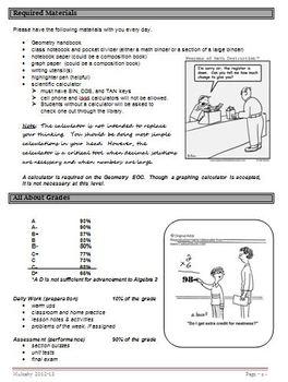 Geometry student handbook