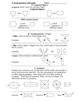Geometry study guide - Grade 2
