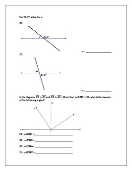 Geometry test on Logic, Proofs, and Perpendicular lines theorems/definitions