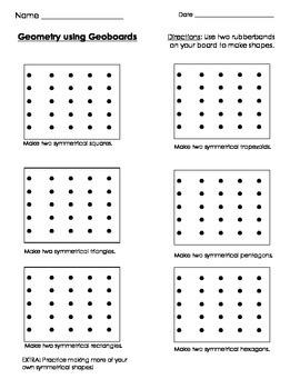 Geometry using Geoboards