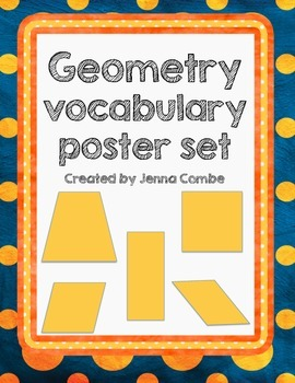 Geometry vocabulary poster set