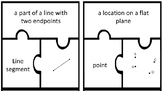 Geometry vocabulary puzzle pieces