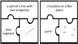 Geometry vocabulary puzzle pieces