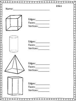 Geometry worksheet/assessment
