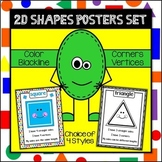2D Shape Poster Set {with definitions} Geometry