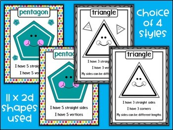 2D Shapes Posters | Math Bulletin Board Display | Classroom Decor