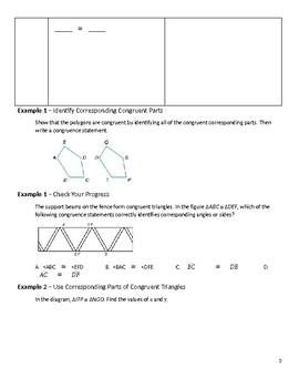 GeometryGuided  Notes – 4.3 Congruent Triangles